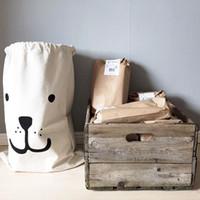Wholesale Batman Canvas Storage Bags Cute Clothing Storage Bags Bear Storage Bags for Clothing Laundry