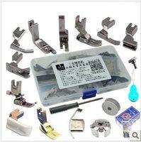 Acheter Pied presseur-Un ensemble par lot commun d'utilisation des pieds presseur mis en place pour machine à coudre industrielle plat, accessoires de machines à coudre industriels ensemble 17 pcs / boîte