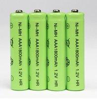 Wholesale 8 stks Mh AAA Oplaadbare Batterij MH V Neutrale AAA oplaadbare batterij batterijen Gratis verzending