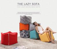 Wholesale GENIUINE LEISURE TATAMI CLOTH SOFA RED ORANGE FASION MODERM STYLE LIVING ROOM SIMPLE FURNITURE GOOD QUALITY F03