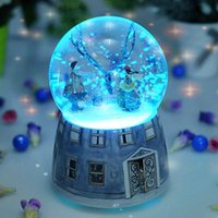 Wholesale The crystal ball birthday gift music snow cherry blossom plant for boy friend or girl friend decorations Furnishing articles