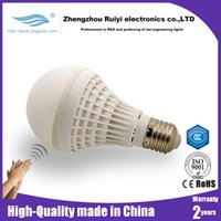 bedroom closet - Globe bulb E27 W W Smart LED Sound and Light Sensor light bulbs Lamp SMD5050 for Hall Closet