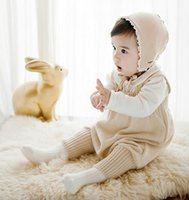 baby clothes sweaters - New Spring Autumn Infant Baby Knitted Short Rompers Sweater Suspender Pants Children Knitwear Overalls Jumpsuits Babies Climb Clothes