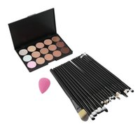Wholesale Colors Makeup Concealer Palette Eye Brushes Tools Sponge Puff Hot Selling Top Quality