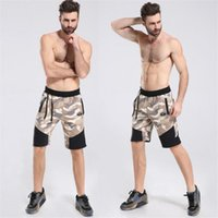 Wholesale Body Engineers Quality cotton Muscle Brothers and fitness shorts Slim thin section breathable camouflageshorts