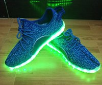 Lace-Up green light for ems - LED Flash Shoes Color USB charging Boost Sneakers Running Shoes for Mens And Womens shoe Footwear EMS gift size