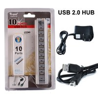 Wholesale USB HUB Mbps Hi Speed Ports Extension Adapter Cable For Keyborard PC Laptop with Retail Package DHL Free OTH340