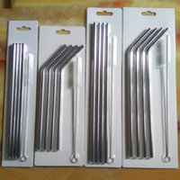 Wholesale 6x Set Stainless Steel Straws and Cleaning Brushes for Yeti Rambler RTIC Drinks Tumbler Cup Brush oz to oz Avaiable Drinking Straw