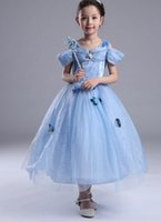 Wholesale Cinderella princess dress Girls dress Ice and snow country princess dress Children s wedding dress