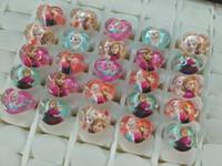 Wholesale FROZEN ICE ana elsa Resin Rings Children Girls kids Birthday Christmas Party Gift