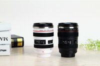 Wholesale Newest OUOH Generation stainless steel liner travel thermal Coffee camera lens mug cup Black Best Christmas gifts