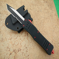 Wholesale Microtech Red Devils A161 HRC Hunting Folding Pocket Knife Survival Knife Xmas gift for men copies D2 freeshipping