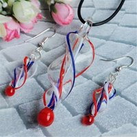 american pipe threads - Threaded pipe type glass necklaces earrings suit The European and American fashion sell like hot cakes