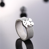 bear net - Bear Brand Net Style Stainless Steel Ring Hot Sale Bear Panda Design Men Female Ring Anillos Jewelry