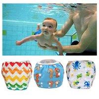 baby poo - Baby Swim Diapers Adjustable Swim Nappies Reusable washable swim pool pants month year poo leakproof