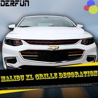Wholesale Fit For Chevrolet Malibu XL front grille decoration brightening article tricolor red color ABS high quality