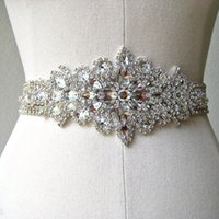Wholesale Exquisite Heavy Beading Sashes Rhinestone Crystals Wedding Belt For Bridal Wedding Accessory Wedding Cheap In stock