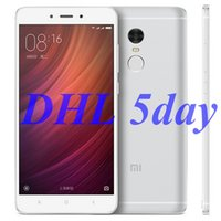 Wholesale Original Xiaomi Redmi Note MIUI8 smartphone MTK Helio X20 Deca Core CPU GB RAM GB ROM Note4 Fingerprint ID cellphone Delivery in days