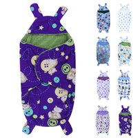 Wholesale Baby Blankets Polar Fleece Fabric Infant Swaddle Soft Short Plush Bebe Envelope Stroller Wrap for Newborns Baby Bedding Blanket