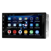 Wholesale 7 quot Quad Core Android Car GPS Navigation Universal Head unit Multimedia Player Radio Bluetooth Wifi DVR Ready