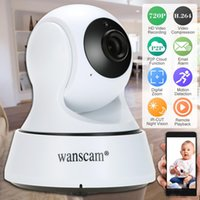 Wholesale Wanscam HD P Wireless WiFi Pan Tilt Network IP Cloud Camera Infrared Night View Motion Detection for CCTV Surveillance Security F16121529