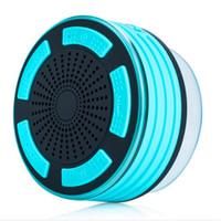 Wholesale new design bottom sucker waterproof speaker with surround music fm rdio bluetooth and degree surround