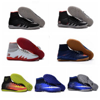 Wholesale Mercurial Superfly V Football Cleats Mens Soccer Cleats IC Indoor Soccer Shoes CR7 Superflys Indoors Soccer Boots Hypervenom Phantom II TF