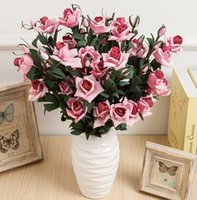 Wholesale Real Touch Rose Simulation flowers Fake Flower for Wedding Home and Party Decoration Colours