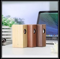 bamboo usb tablet - Wooden wireless speaker Portable Stereo NFC Speaker USB charging Bamboo Audio Speaker for mobile phone and tablet