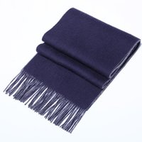 Wholesale Autumn and winter new high quality high quality double sided cashmere suits for men and women tassels solid scarves