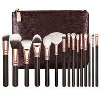 Wholesale Makeup Brush kit Rose Golden Professional Luxury Set Face and Eyeshadow Make Up Tools Kit Powder Blending brush