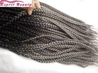 Precio de Trenzas grises oscuros-5Packs22