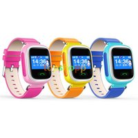 Wholesale DHL fast new Children GPS Smart Watch Wristwatch SOS Call Location Finder Locator Device Tracker for Kid Safe Anti Lost Monitor Q60