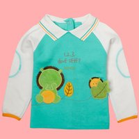 baby polos - Christmas New Year s day Blue and white fleece Collar Green design of baby cute fleece the fleece pattern beautiful and handsome