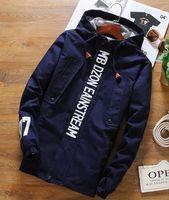 Wholesale Spring tide a slim type long coat jacket sweater tide men s Sports Students kanye west supre