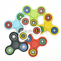 Wholesale 2017 Newest EDC Fidget Spinner Hand Spinner tri spinner HandSpinner EDC Toy For Killing Time For Kids Adults DHL Free