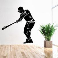 baseball wall art - 74x83cm Baseball Sports Man Figure Wall Sticker Removable Art Mural Decal for Home Decoration Children s Bedroom Kids Room