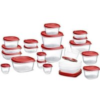 amazon plastic cups - 2016 hot Amazon Rubbermaid Easy Find Lids Food Storage Container piece Set Red new style