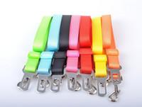belt leash - High Quality Pet supplies nylon Adjustable Pet Cat Dog safety belt Car Seat Belt Clip width cm dog car seatbelt dog chain