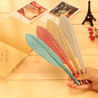 Wholesale Cute mm black ink feather gel pen kawaii color gel pen school supplies promotion gift Stationery