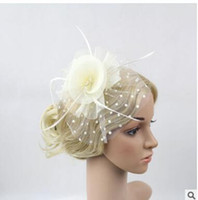 Wholesale Bridal veil Wedding Hair Jewelry floral gauze hats headdress feast party photo hair accessory head ornaments many colors