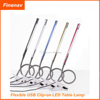 Wholesale Cool Design Flexible USB Clip on Table Lamp LED Clamp Reading Study Bed Laptop Desk Light Color