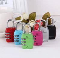 Wholesale Luggage Padlock Resettable Digit Combination Password Suitcase Lock Travel Mini Lock simulation TSA locks