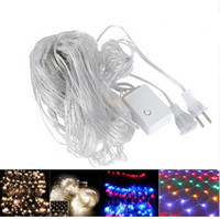 El mejor precio llevó las luces de navidad Baratos-Mejor precio 2x3M 4x6M guirnaldas de Navidad LED de la cadena de la red de Navidad luces de hadas de Navidad partido de jardín de la decoración de la boda cortina luces
