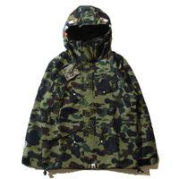 Wholesale Popular Camouflage Men s Hoodies Windbreaker Hoodies Fashion Cardigan Leisure Coat Popular Brand Japanese Lapel High Qualiy Hoodies
