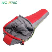 adult adventure camp - High Quality Winter Mummy Type Thermal Warm Adult Cotton Sleeping Bag for Outdoor Camping Adventure Family Home Sleeping Bag