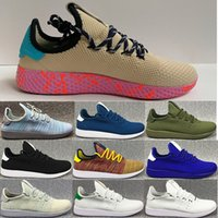 Unisex Cotton Fabric PU New arrive Pharrell Williams x Stan Smith Tennis HU Primeknit men women Running Shoes Sneaker breathable Boost Runner sports Shoes EUR 36-45