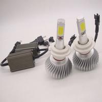 al por mayor luz del faro-2pcs 80W 12V CREE llevó el kit de la conversión del LED de la viga DRL kit de la conversión de la linterna de la niebla H1 H4 H7 H8 H11 9006