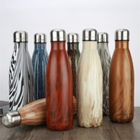 Wholesale New ml Vacuum Cup Coke Mug Stainless Steel Bottles Insulation Cup Thermoses Fashion Movement Veined B1127