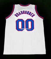 Wholesale Mens ROADRUNNER TUNE SQUAD SPACE JAM MOVIE JERSEY WHITE NEW ANY SIZE XS XL Retro Basketball Jerseys